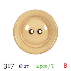 Tube 2 boutons beige Ø 27mm