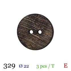 Tube 3 boutons en bois usé Ø 22mm