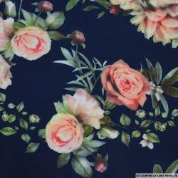 Scuba imprimé floraux fond marine
