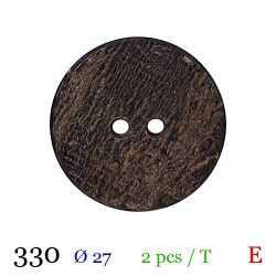 Tube 2 boutons en bois usé Ø 27mm