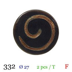 Tube 2 boutons fantaisie Ø 27mm