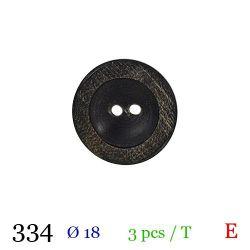 Tube 3 boutons façon bois usé Ø 18mm
