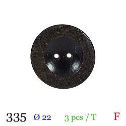 Tube 3 boutons façon bois usé Ø 22mm