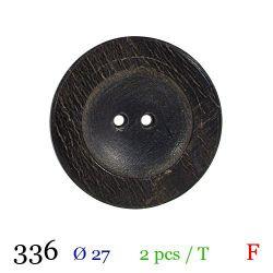 Tube 2 boutons façon bois usé Ø 27mm