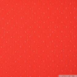 Mousseline plumetis polyester rayée irisée corail