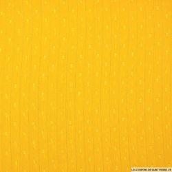 Mousseline plumetis polyester rayée irisée jaune