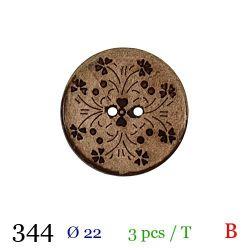 Tube 3 boutons fantaisie en bois Ø 22mm