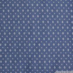 Chambray de coton imprimé géométrique