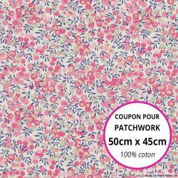 Coton liberty ® Wiltshire Bougainvillée - Coupon 50x45cm