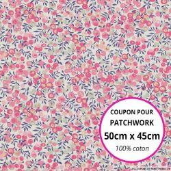 Coton liberty ® Wiltshire Bougainvillée - Coupon 50x45cm