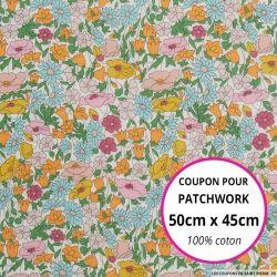 Coton liberty ® Poppy Forest Rainbow - Coupon 50x45cm