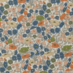 Coton liberty ® Poppy Forest Bronze au mètre