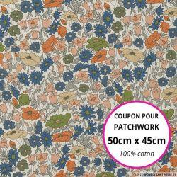Coton liberty ® Poppy Forest Bronze - Coupon 50x45cm