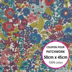 Coton liberty ® Margaret Broceliande - Coupon 50x45cm