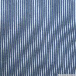 Chambray de coton rayé bleu clair