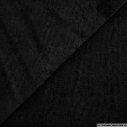 Tissu éponge bambou noir vendu au mètre