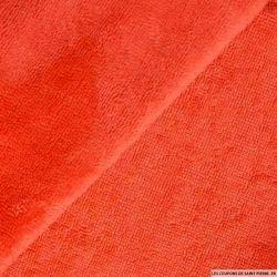 Tissu éponge bambou corail vendu au mètre