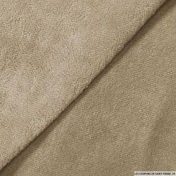 Tissu éponge bambou galet vendu au mètre