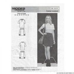 Patron Modes & Travaux Robe polo - Mars 2020 n°1432