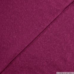 Maille polyester flammée magenta