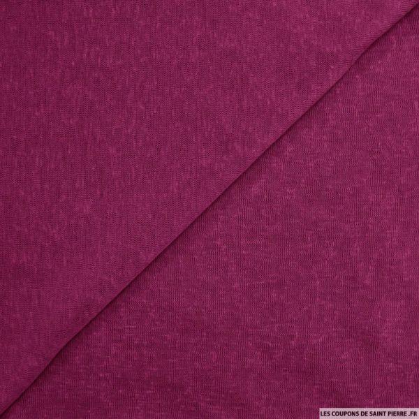 Maille polyester flammée magenta
