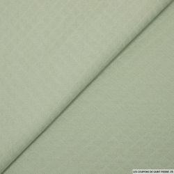 Jersey matelassé polycoton vert amande