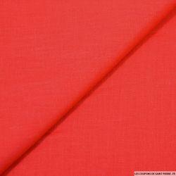 100% Lin lavé rouge