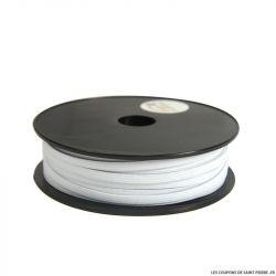 Biais élastique bicolore or fond noir - 20 mm  au mètre