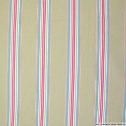Coton imprimé rayés 5 couleurs
