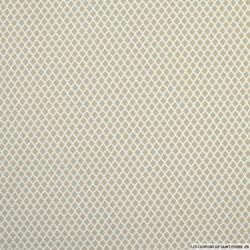 Coton imprimé mini losanges fond marron glacé