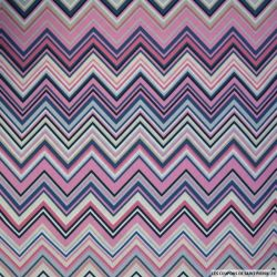 Coton imprimé zigzag