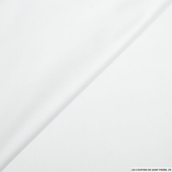 Popeline de coton blanc