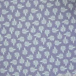 Coton imprimé buisson fond violet
