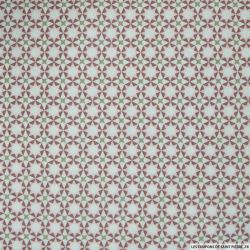 Coton imprimé étoile roses et vieux roses