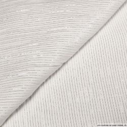 Double gaze rayures lurex irisées blanc