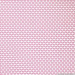 Coton imprimé tréfles fond rose