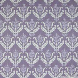 Coton imprimé versailles fond violet