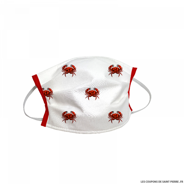 Masque barrière en tissu Crabe