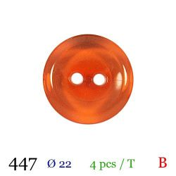 Tube 4 boutons orange Ø 22mm