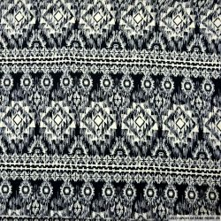 Microfibre imprimée aztèque noir et écru
