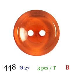 Tube 3 boutons orange Ø 27mm