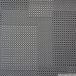 Microfibre imprimée patchwork petits motifs noir et blanc