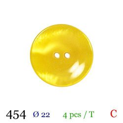 Tube 4 boutons jaunes Ø 22mm