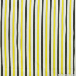 Coton chemise rayé jaune