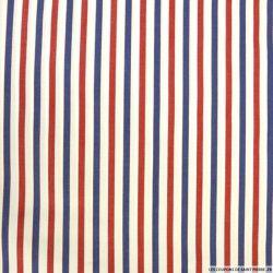 Coton chemise rayé rouge et bleu