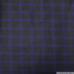 Clan polyviscose rayures marines fond bleu nuit