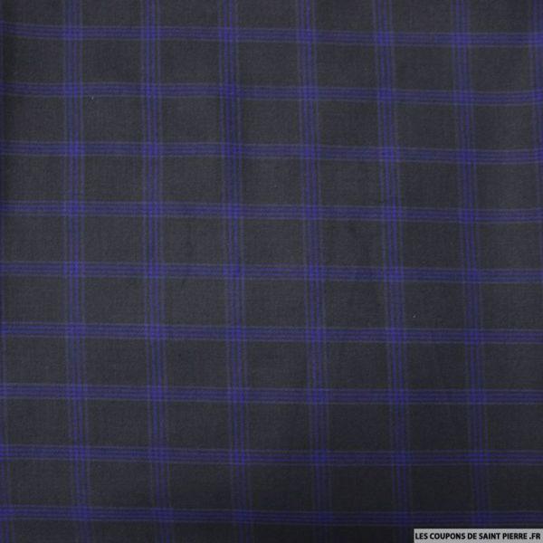 Clan polyviscose rayures marine fond bleu nuit