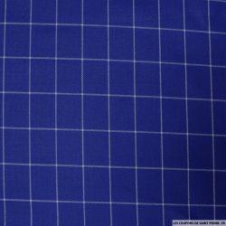 Clan polyviscose rayures blanches fond bleu