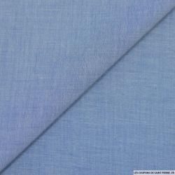 Voile Chambray de coton léger bleu