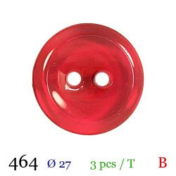 Tube 3 boutons rouges Ø 27mm